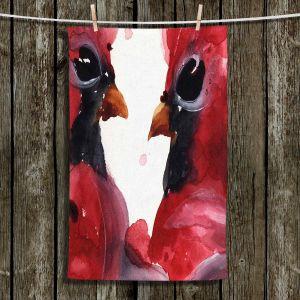 Unique Hanging Tea Towels | Dawn Derman - Cardinals | Birds