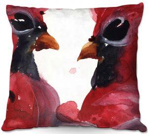 Decorative Outdoor Patio Pillow Cushion | Dawn Derman - Cardinals