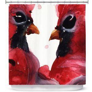 Premium Shower Curtains | Dawn Derman - Cardinals