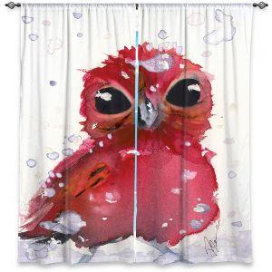 Decorative Window Treatments   Dawn Derman - Christmas Finch   bird animal watercolor