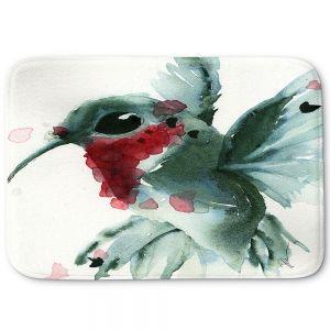 Decorative Bathroom Mats   Dawn Derman - Christmas Hummingbirds II