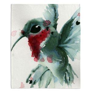 Decorative Fleece Throw Blankets | Dawn Derman - Christmas Hummingbirds II