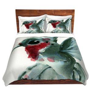 Artistic Duvet Covers and Shams Bedding | Dawn Derman - Christmas Hummingbirds II