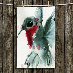 Unique Bathroom Towels   Dawn Derman - Christmas Hummingbirds II