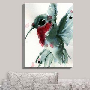 Decorative Canvas Wall Art | Dawn Derman - Christmas Hummingbirds II