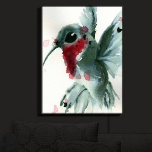 Nightlight Sconce Canvas Light | Dawn Derman - Christmas Hummingbirds II