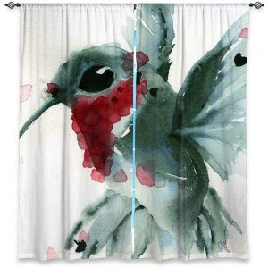 Decorative Window Treatments | Dawn Derman - Christmas Hummingbirds II