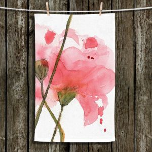 Unique Hanging Tea Towels | Dawn Derman - Corral Poppies | Nature Flower