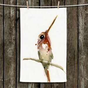 Unique Bathroom Towels | Dawn Derman - Day Dreaming | bird animal watercolor