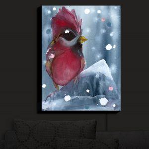 Nightlight Sconce Canvas Light | Dawn Derman - Evening Snow Cardinal | Red Bird