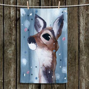 Unique Bathroom Towels   Dawn Derman - Evening Snow Deer