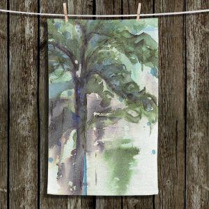 Unique Hanging Tea Towels   Dawn Derman - Evergreen   Nature Tree