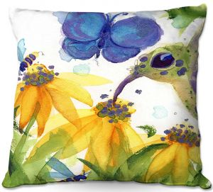 Unique Outdoor Pillow 16X16 from DiaNoche Designs by Dawn Derman - Feast for All