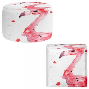 Round and Square Ottoman Foot Stools | Dawn Derman - Felix Flamingo