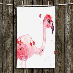 Unique Hanging Tea Towels | Dawn Derman - Flo Flamingo | Flamingo