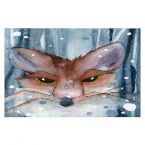 Decorative Floor Covering Mats | Dawn Derman - Fox Evening Snow | Wild Animals Winter