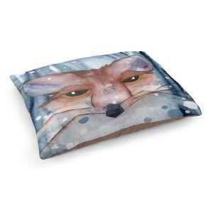 Decorative Dog Pet Beds   Dawn Derman - Fox Evening Snow   Wild Animals Winter