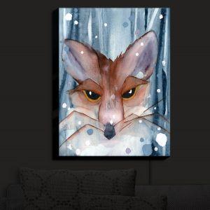 Nightlight Sconce Canvas Light | Dawn Derman - Fox Evening Snow | Wild Animals Winter
