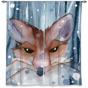 Decorative Window Treatments   Dawn Derman - Fox Evening Snow   Wild Animals Winter