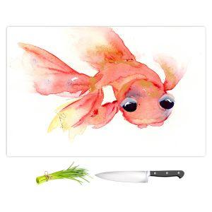 Artistic Kitchen Bar Cutting Boards | Dawn Derman - Goldie Fish | Animals Fish Ocean Water