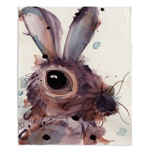 Decorative Fleece Throw Blankets | Dawn Derman - Hare
