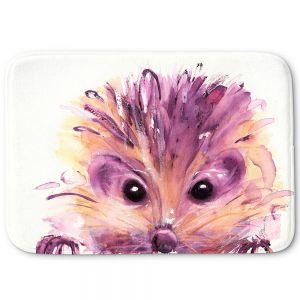 Decorative Bathroom Mats | Dawn Derman - Hedgehog | Nature creatures animals small children cute