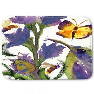 Decorative Bathroom Mats | Dawn Derman - Hummingbirds Butterflies