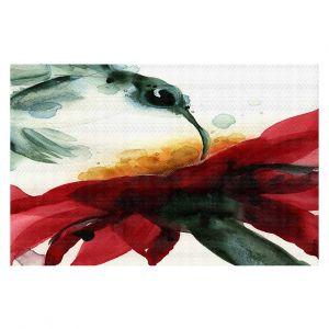 Decorative Floor Coverings   Dawn Derman - Hummingbirds Red Flower
