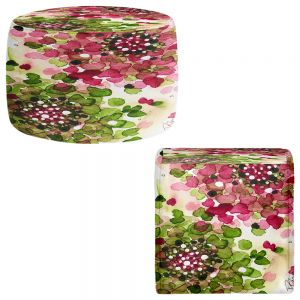 Round and Square Ottoman Foot Stools | Dawn Derman - Hydrangea