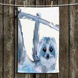 Unique Hanging Tea Towels | Dawn Derman - Just Hanging Around | sloth animal nature creature