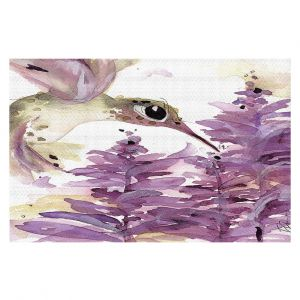 Decorative Floor Coverings | Dawn Derman - Lavender Hummer | Nature Bird