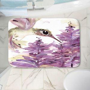 Decorative Bathroom Mats | Dawn Derman - Lavender Hummer | Nature Bird