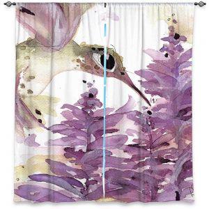 Decorative Window Treatments | Dawn Derman - Lavender Hummer | Nature Bird