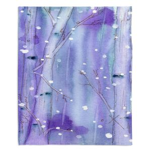 Artistic Sherpa Pile Blankets | Dawn Derman Midnight Snow in the Aspens