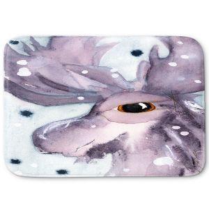 Decorative Bathroom Mats   Dawn Derman - Moose   Wild Animals Winter