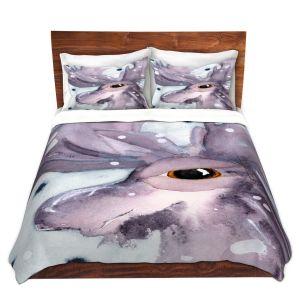Artistic Duvet Covers and Shams Bedding | Dawn Derman - Moose | Wild Animals Winter