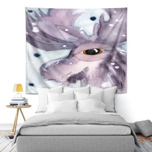 Artistic Wall Tapestry | Dawn Derman - Moose | Wild Animals Winter