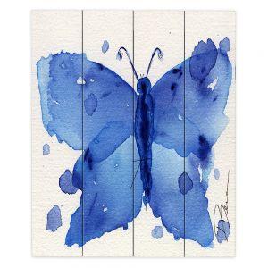 Decorative Wood Plank Wall Art   Dawn Derman Moth II