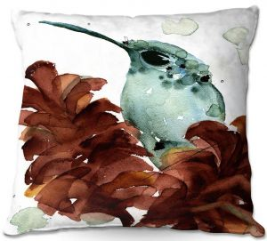 Throw Pillows Decorative Artistic | Dawn Derman - November Hummingbirds