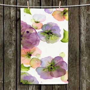 Unique Hanging Tea Towels | Dawn Derman - Pansy Fall | Flowers