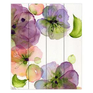Decorative Wood Plank Wall Art | Dawn Derman - Pansy Fall
