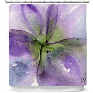 Premium Shower Curtains | Dawn Derman - Pansy I
