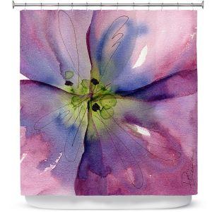 Premium Shower Curtains | Dawn Derman - Pansy II