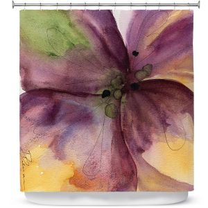 Unique Shower Curtain from DiaNoche Designs by Dawn Derman - Pansy III