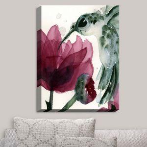 Decorative Canvas Wall Art | Dawn Derman - Peonies and Hummingbirds