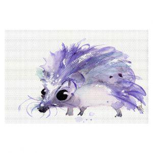 Decorative Floor Covering Mats | Dawn Derman - Purple Hedgehog | Nature creatures animals small children cute