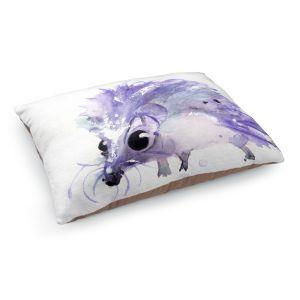 Decorative Dog Pet Beds | Dawn Derman - Purple Hedgehog | Nature creatures animals small children cute