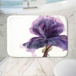 Decorative Bathroom Mats | Dawn Derman - Purple Iris | Nature Flower