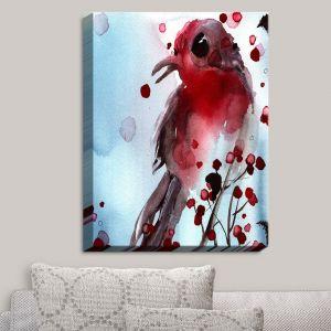 Decorative Canvas Wall Art | Dawn Derman - Red Finch in Winter