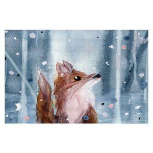 Decorative Floor Covering Mats   Dawn Derman - Red Fox Snow   Wild Animals Winter